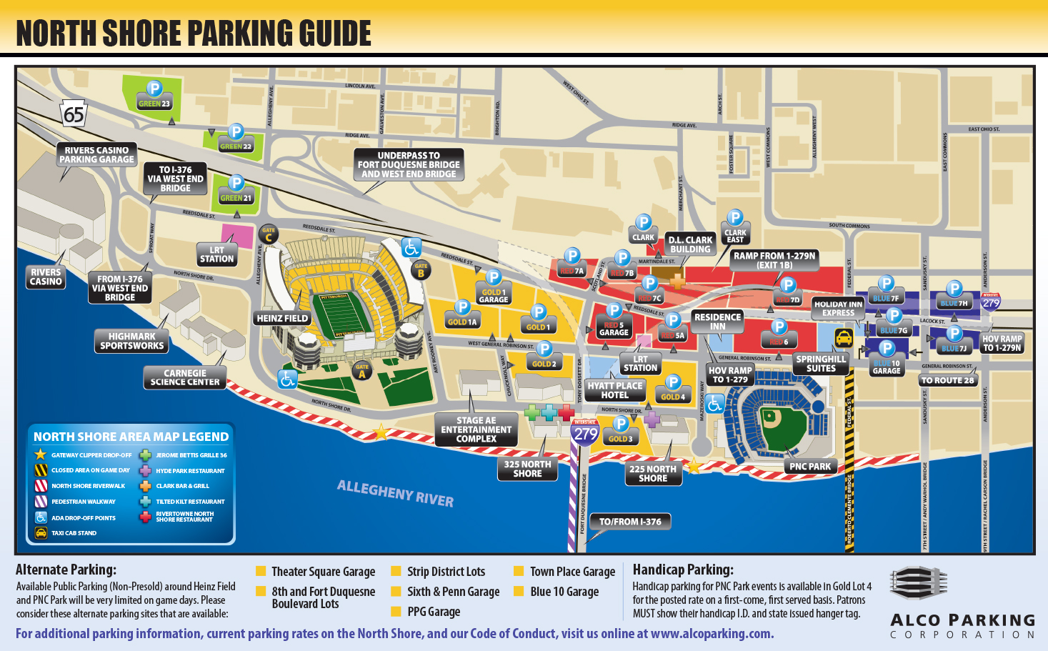 Directions to Heinz Field and Parking Lots
