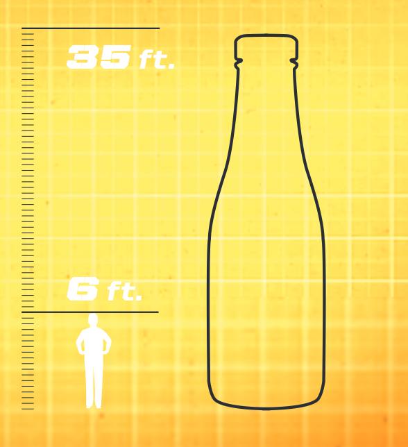 Heinz Field Ketchup Bottles