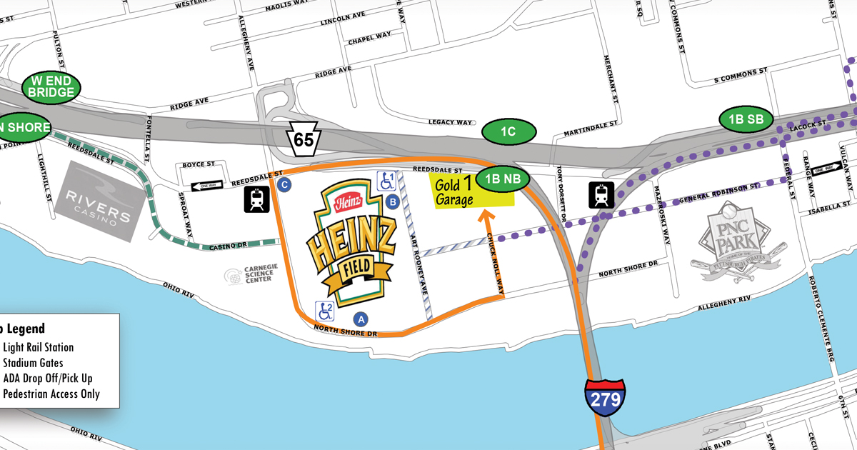 Directions to Heinz Field and Parking