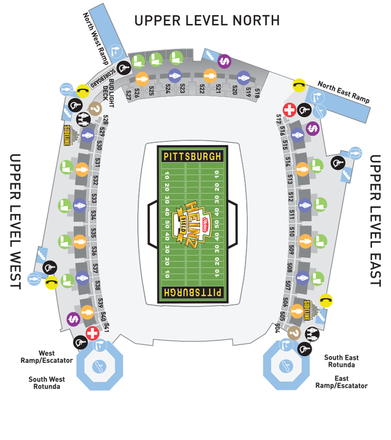 Heinz Field Upper Level Seating Chart