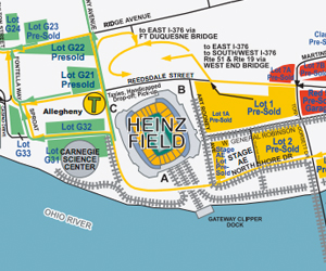 heinz field parking information north shore and downtown