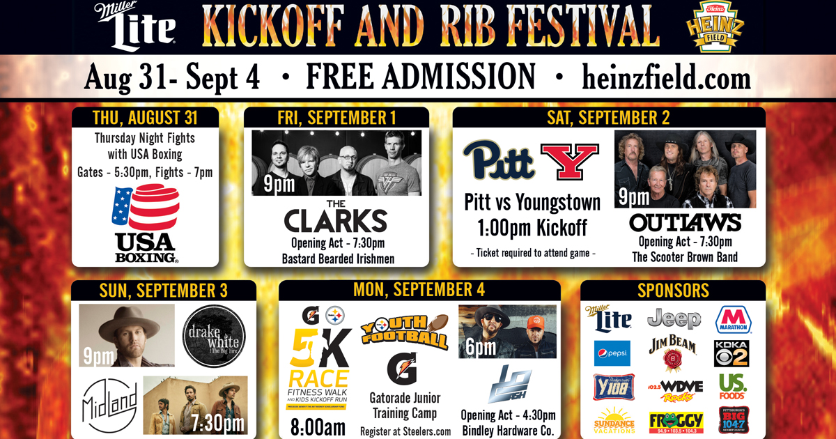 The Outlaws to Play Heinz Field Rib Fest