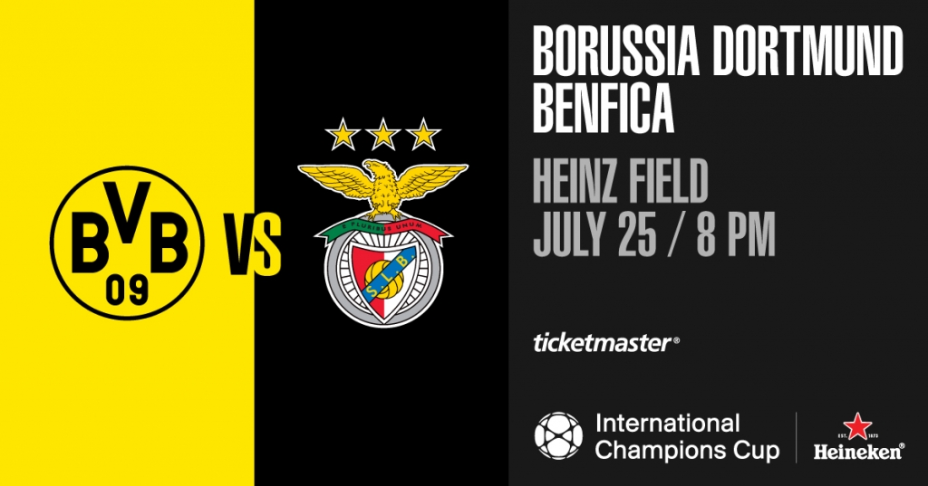 2018 International Champions Cup: Dortmund Borussia BVB vs. Benfica