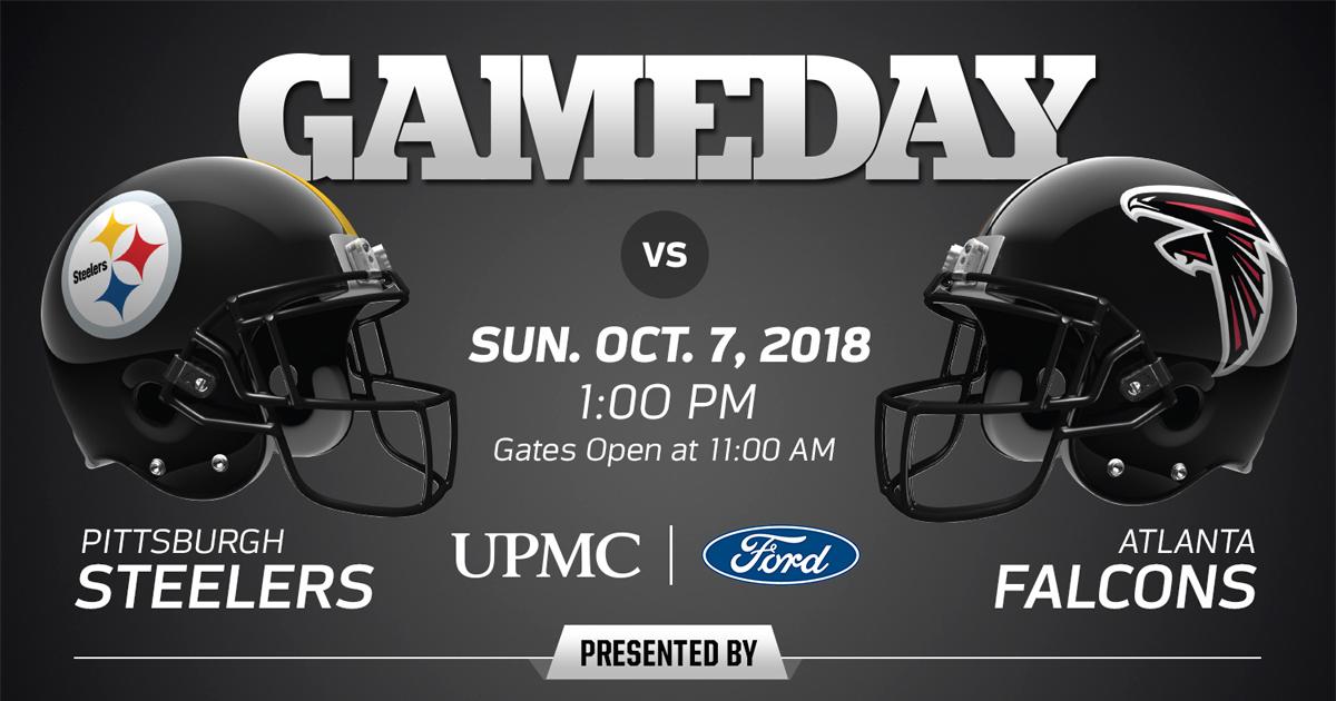 Pittsburgh Steelers vs. Atlanta Falcons - 2018 Regular Season