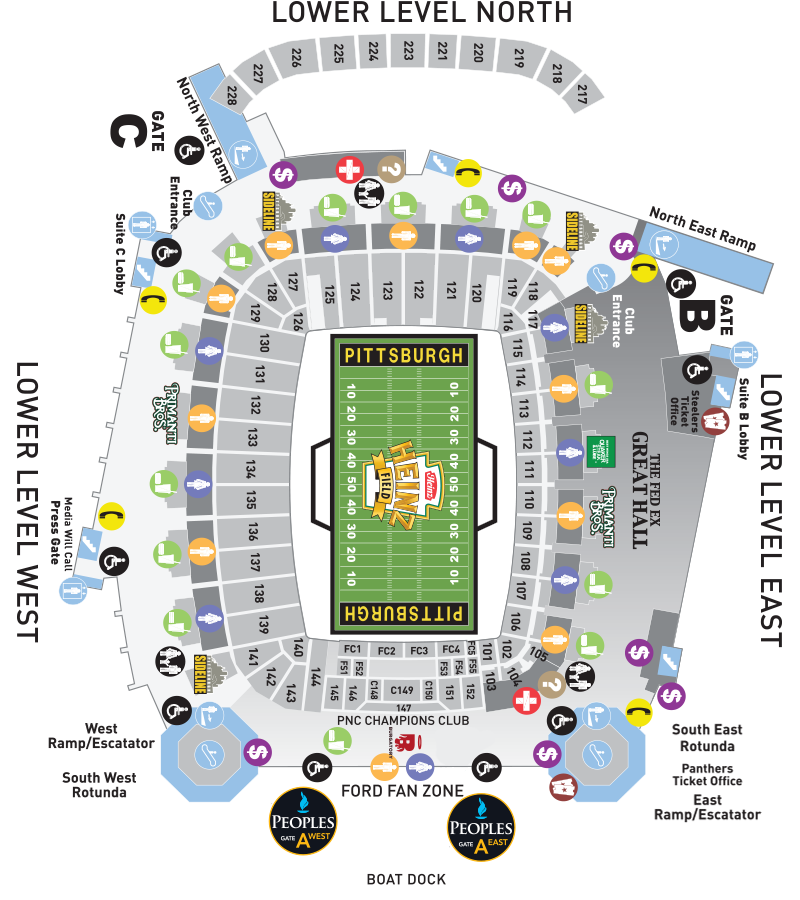 Heinz Field Lower Level Seating Chart