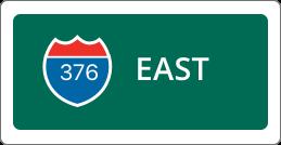 I-376 East road sign