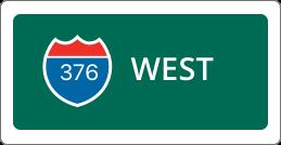 I-376 West road sign