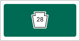 Route 28 road sign