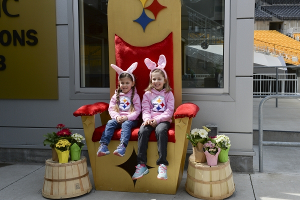 Children in Easter Chair