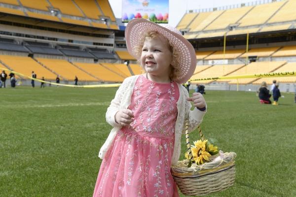 Girl holding Easter Basket
