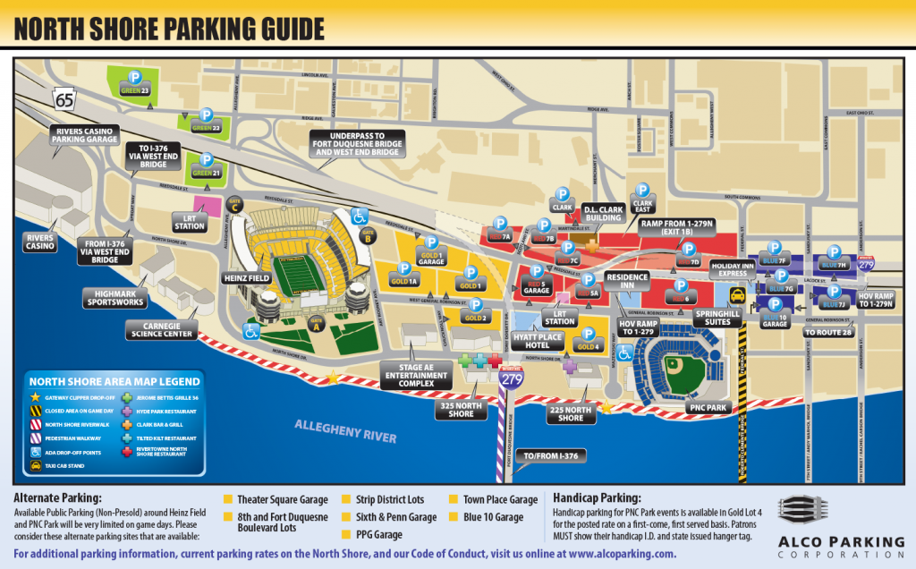 Heinz Field North Shore Parking