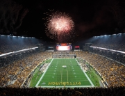 Fireworks over Heinz Field during a night Steelers game